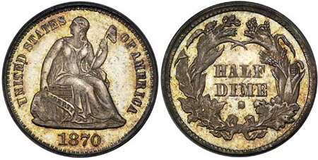 1870-S Half Dime
