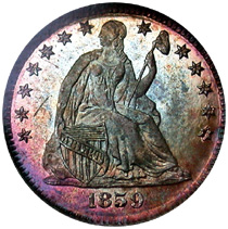 proof Liberty Seated Half Dime