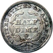 half dime reverse